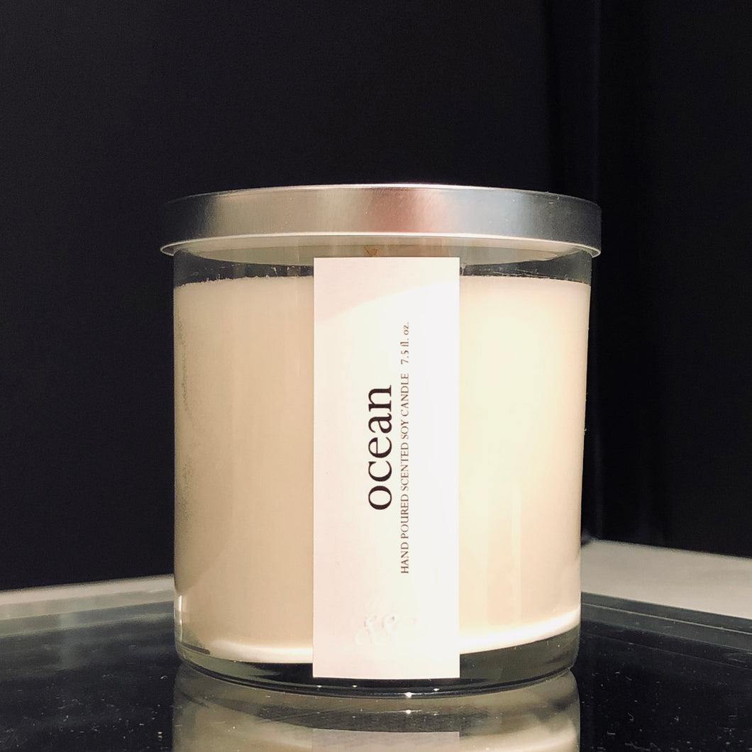 ocean scented luxury soy candle