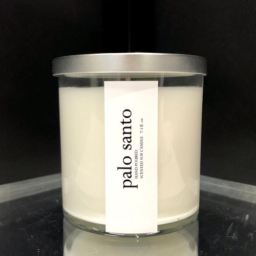 palo santo scented luxury soy candle