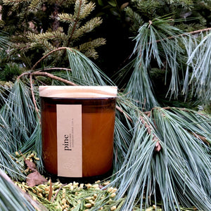 pine scented luxury soy candle