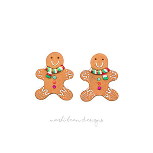 Gingerbread Men Studs | 1