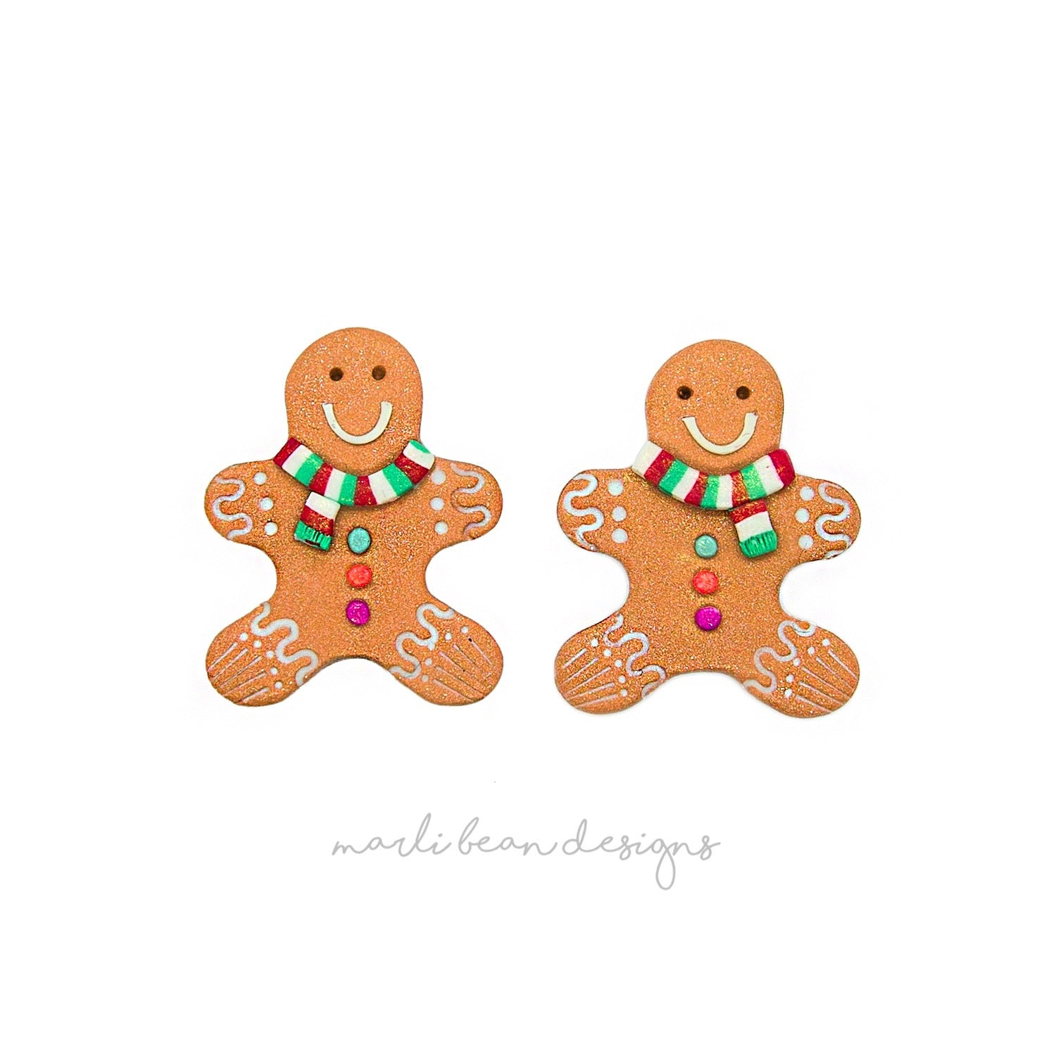 Gingerbread Men Studs | 2