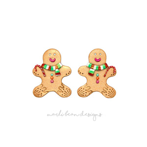 Gingerbread Men Studs | 3