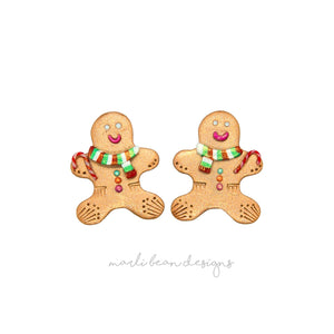 Gingerbread Men Studs | 4
