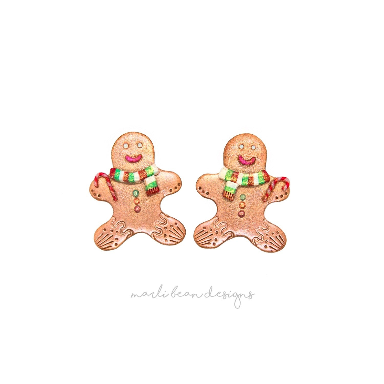 Gingerbread Men Studs | 5