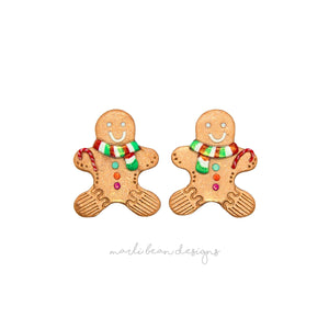 Gingerbread Men Studs | 6