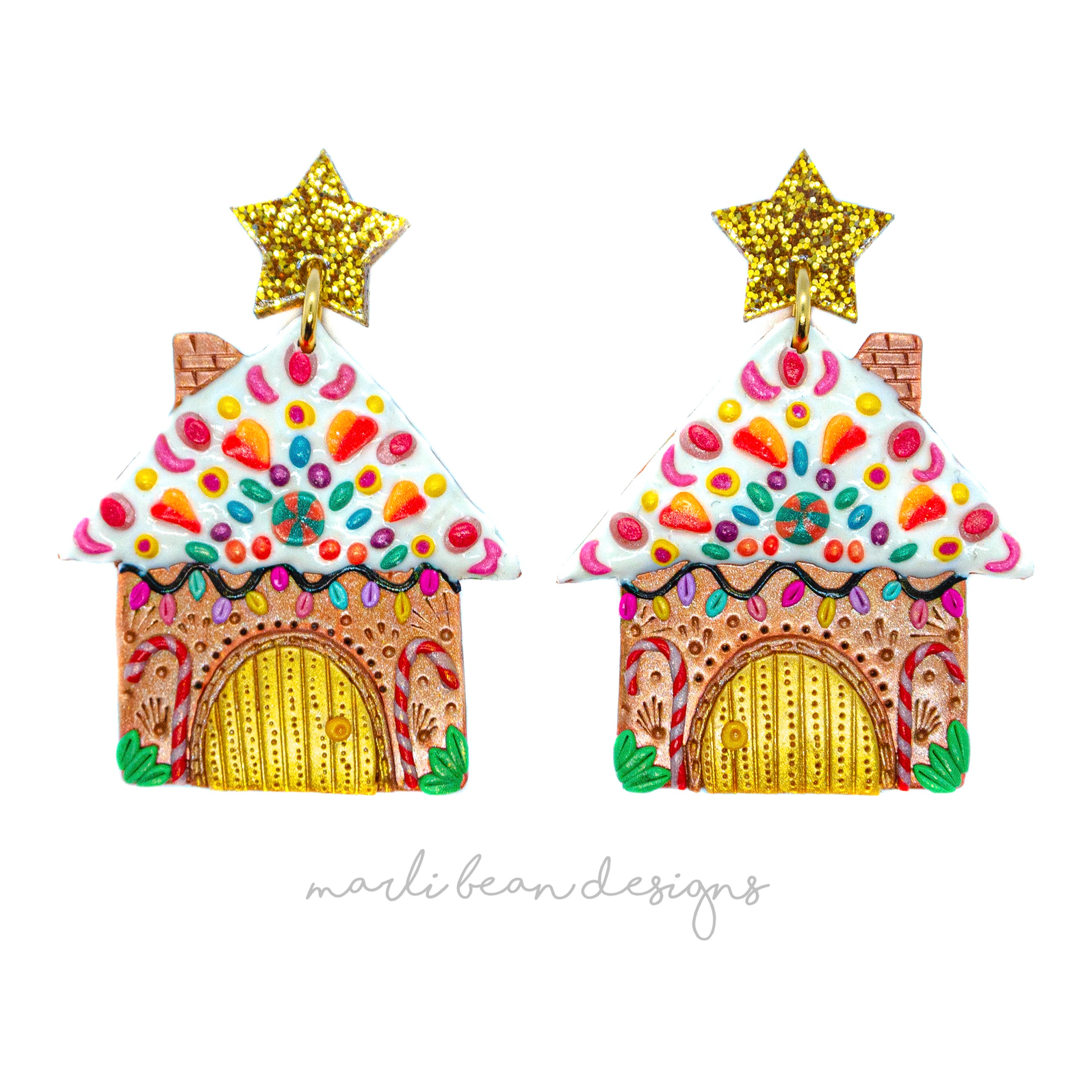 Deluxe Gingerbread House Dangles | 1