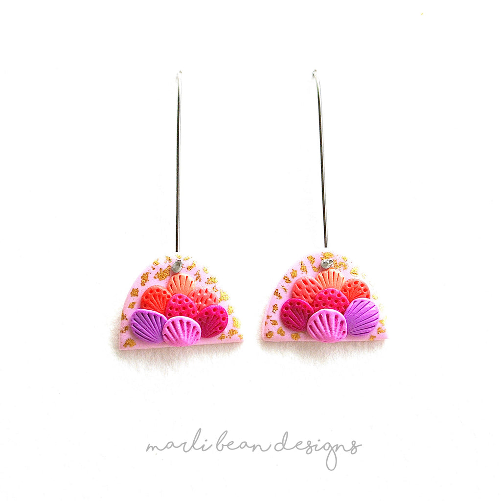 Pink Sea Flora Arch Hook Drops