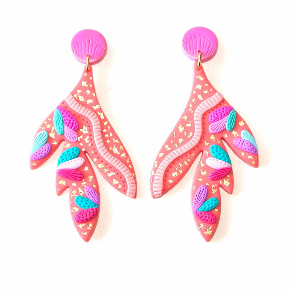 Sweetheart Coral Dangles