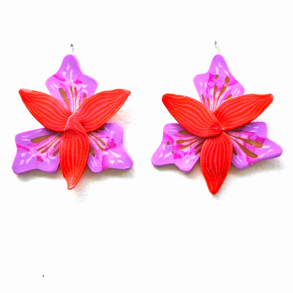 Lilac & Red Orchid Hook Drops