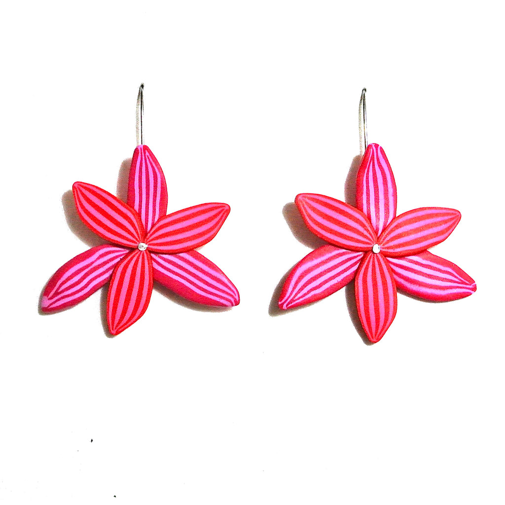 Red & Pink Orchid Hook Drops