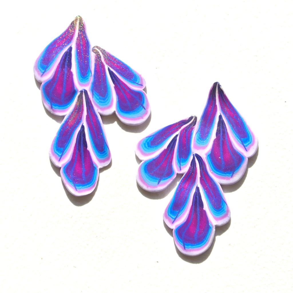 Violet Dreams Cascade Statement Studs