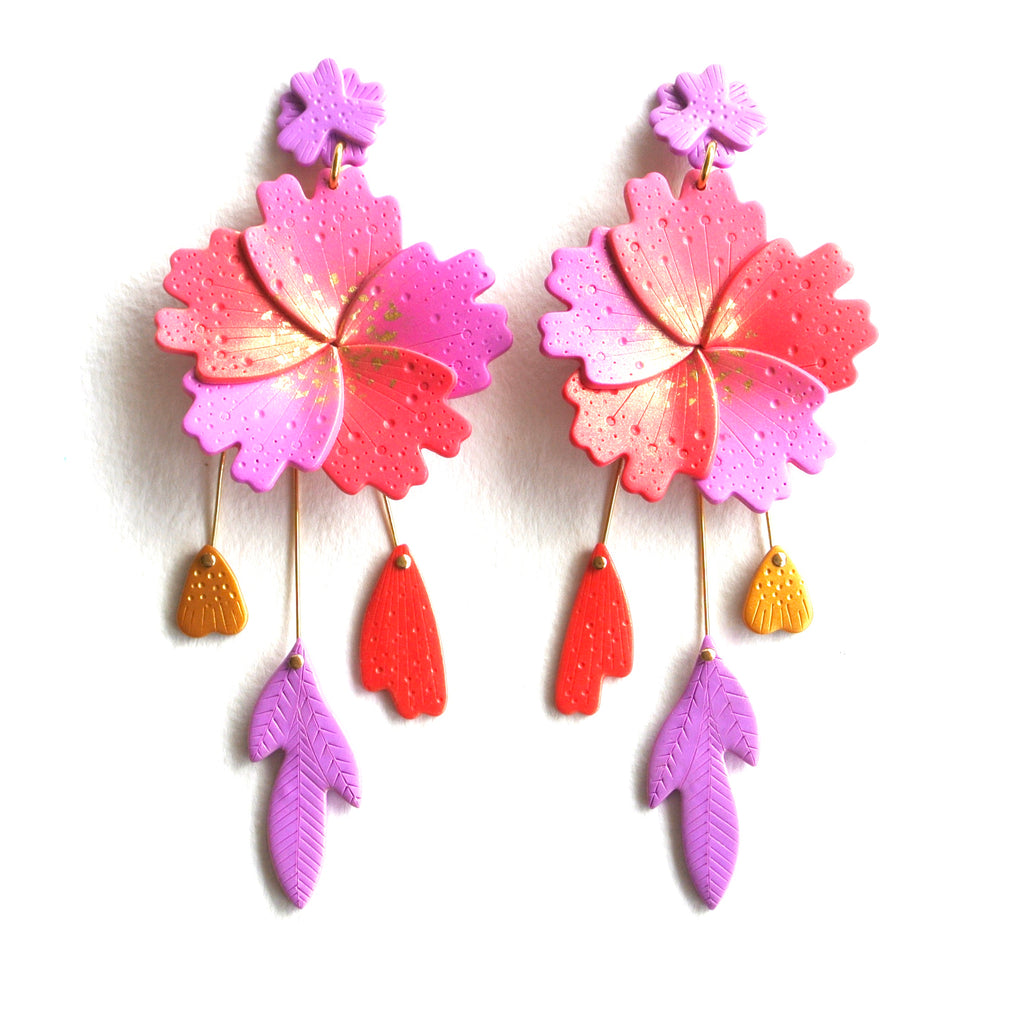 Paradise Flourish Statement Dangles