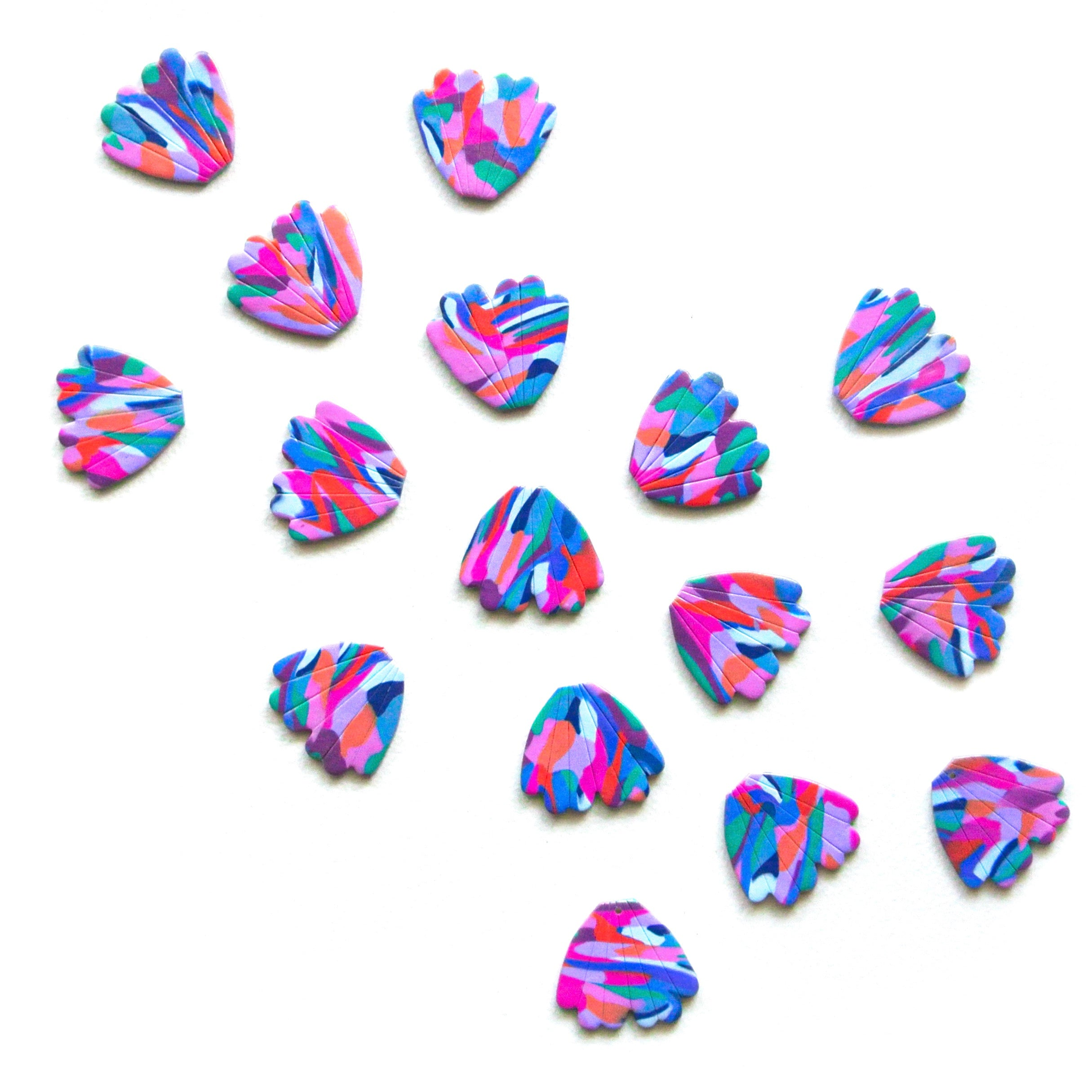 Colour Splatter Midi Flora Studs