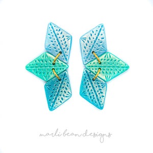 Aquamarine | Trio Statement Studs
