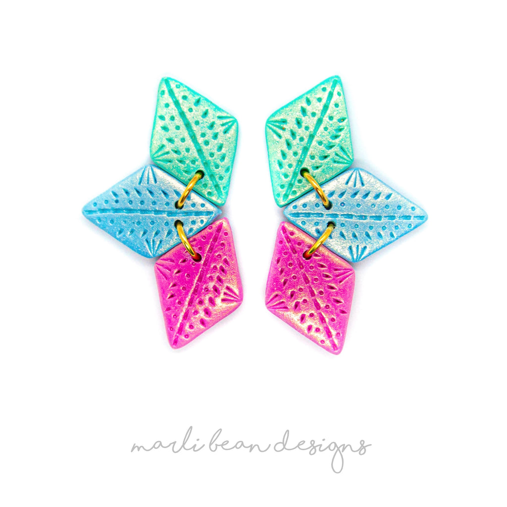 Berry Bliss | Trio Statement Studs
