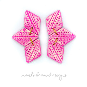 For The Love Of Pink | Trio Statement Studs
