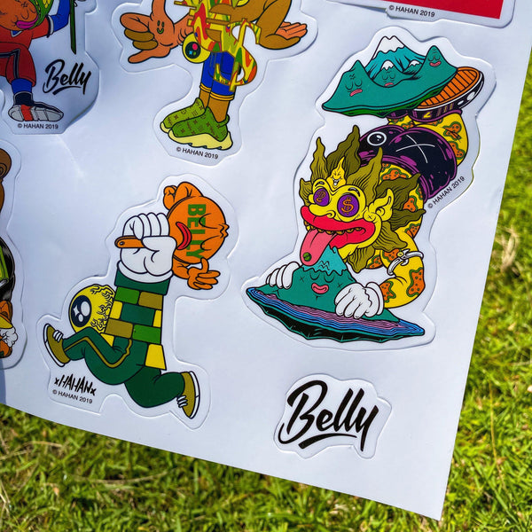 Hahan x Belly Stickers
