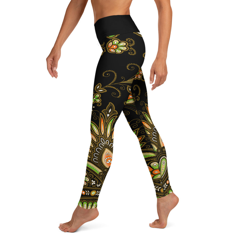 Mother India Pattern Yoga Leggings