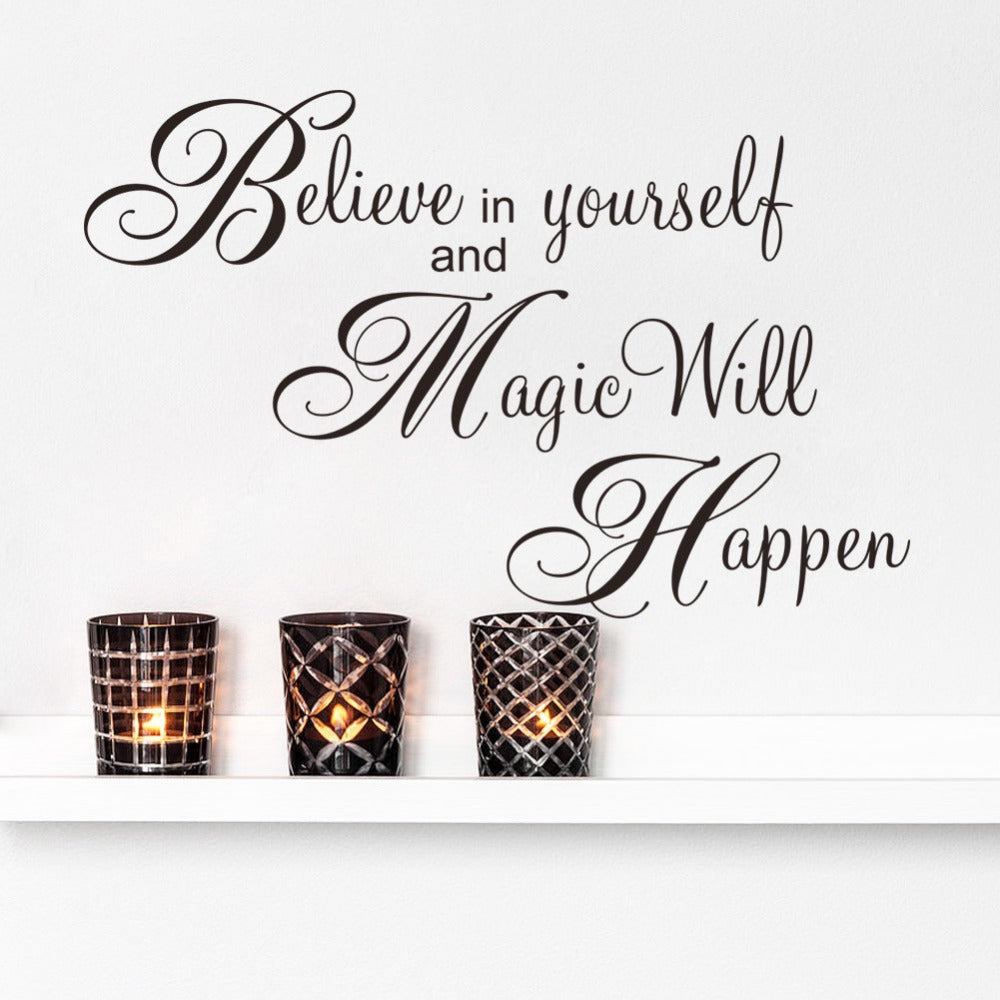 Believe & Magic Wall Decal