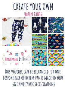 Harem Pants Gift Voucher