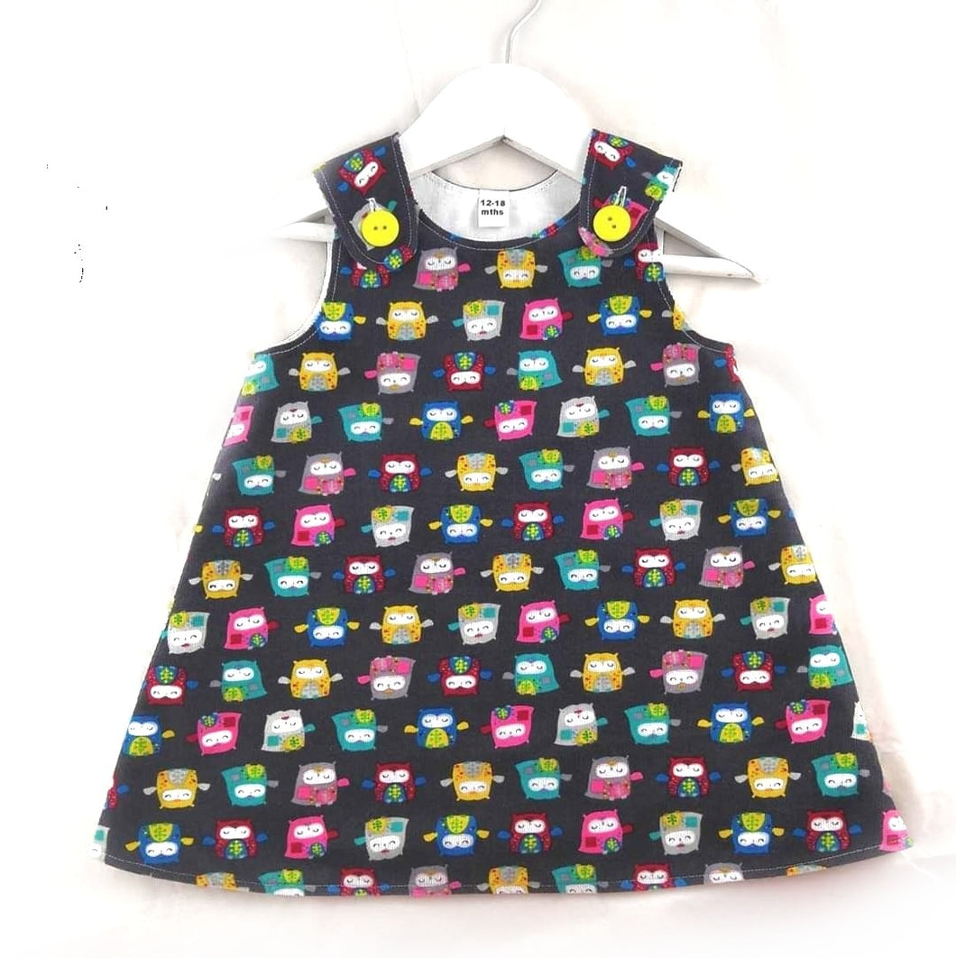 Owl Pinafore Dress