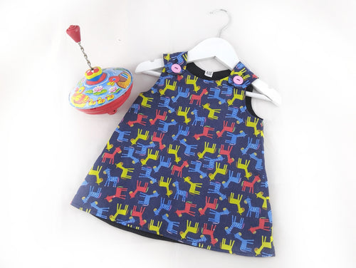 Little Horses Pinafore Dress