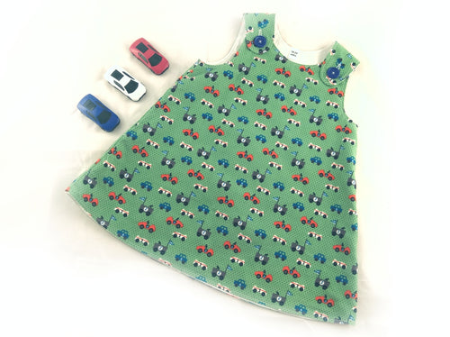 Car Pinafore Dress