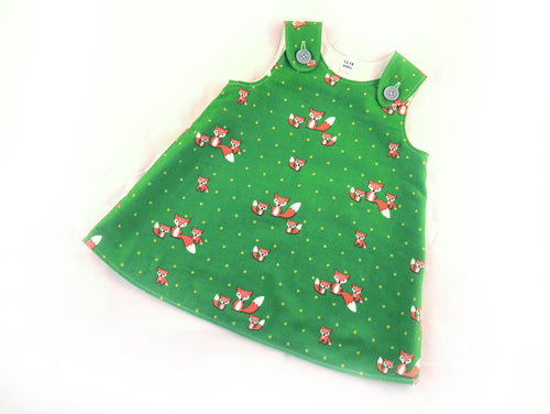 Foxes Corduroy Pinafore Dress