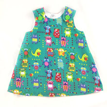 Load image into Gallery viewer, Aliens and Monsters Corduroy Pinafore Dress