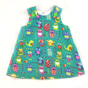 Aliens and Monsters Corduroy Pinafore Dress