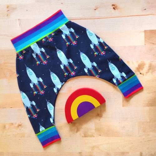 Rainbow Rockets Harem Pants