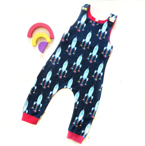 Space Rocket Dungarees