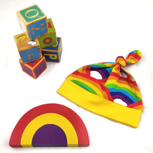 Baby Top Knot Hat - Rainbow Baby