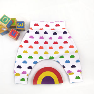 Rainbow Clouds Harem Pants