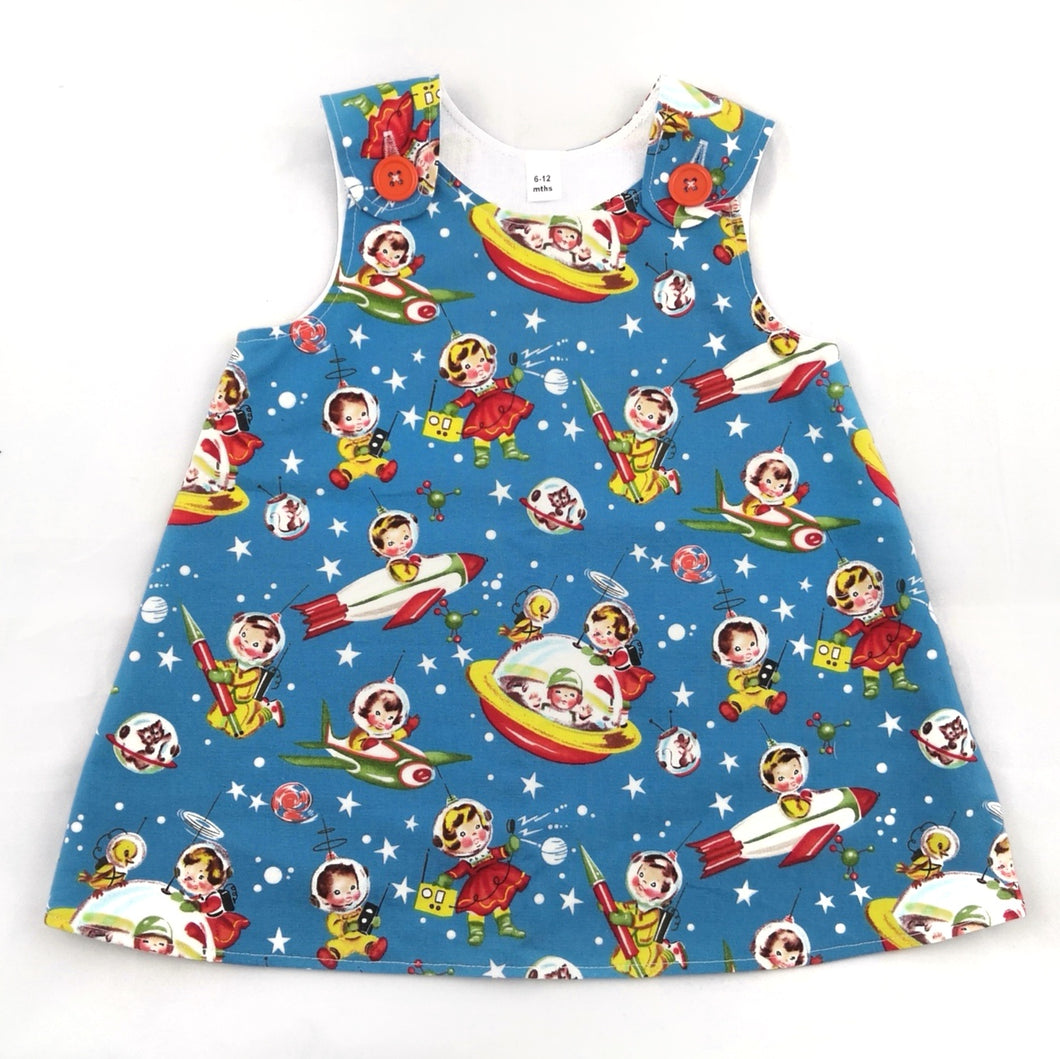 Retro Space Pinafore Dress