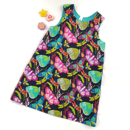 Floral Garden Pinafore Dress