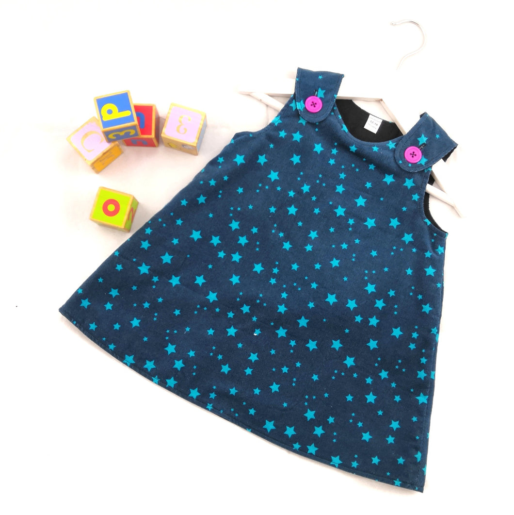 Starry Night Corduroy Pinafore Dress