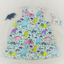 Load image into Gallery viewer, Unicorn & Dinosaur Dress
