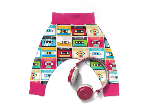 Retro Cassette Tape Harem Pants