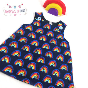 Rainbows Pinafore Dress