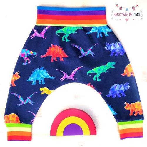 Rainbow Dinos Harem Pants (READY MADE)
