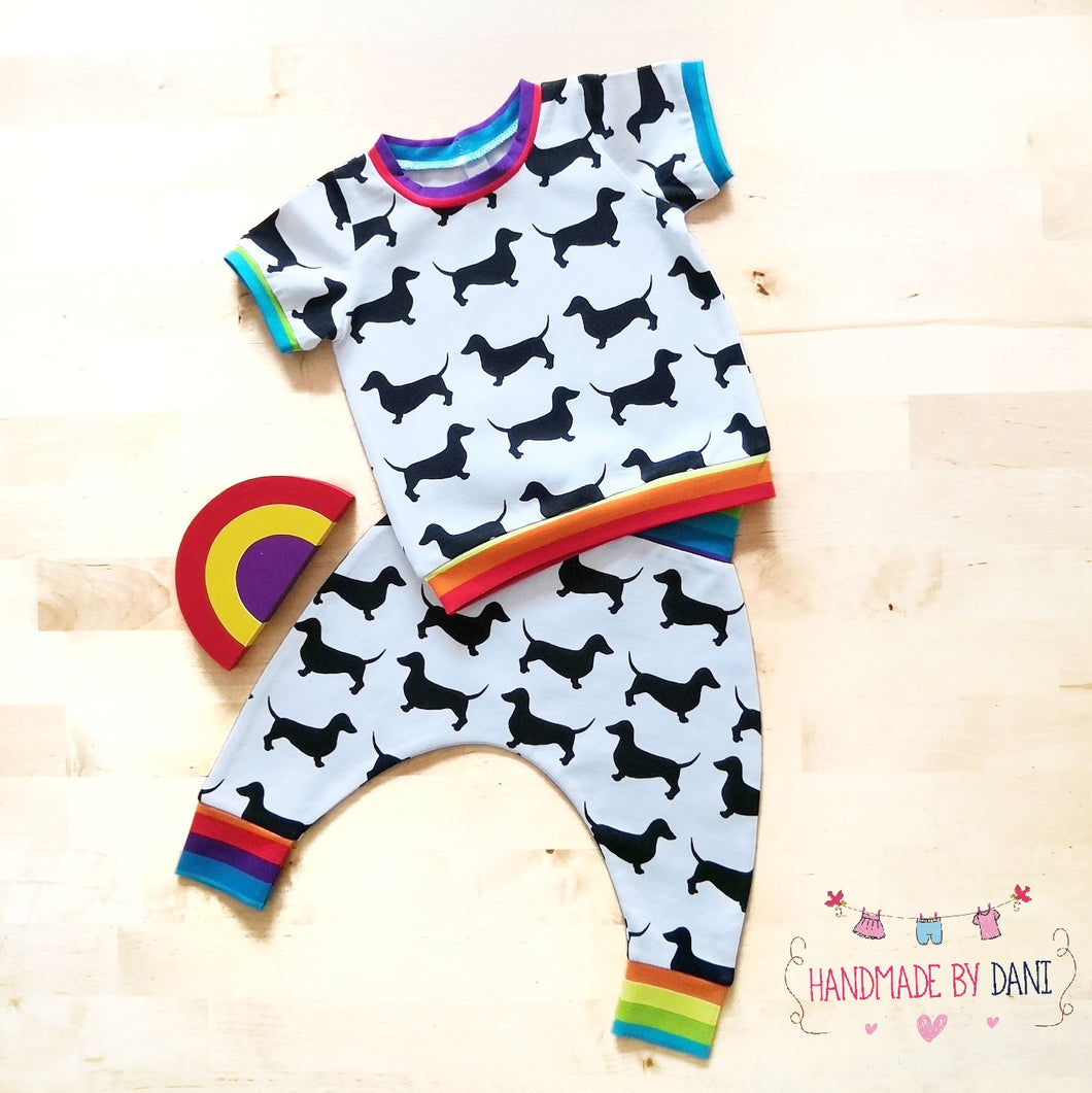 Dachshund Doggy Harem Pants and Tee