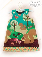 Load image into Gallery viewer, Squirrel Pinafore Dress