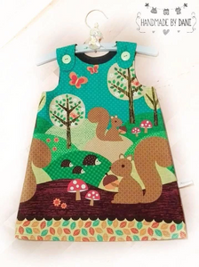 Squirrel Pinafore Dress