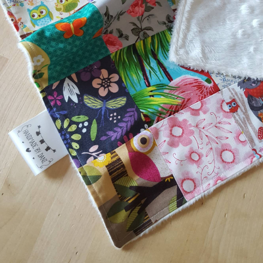 Patchwork Baby Girls Blanket