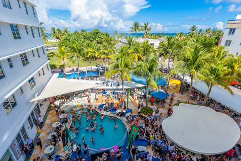 Clevelander South Beach pool party miami