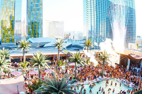Marquee Day Club pool party at the Cosmopolitan
