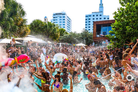 Hyde Beach pool party at the SLS Hotel