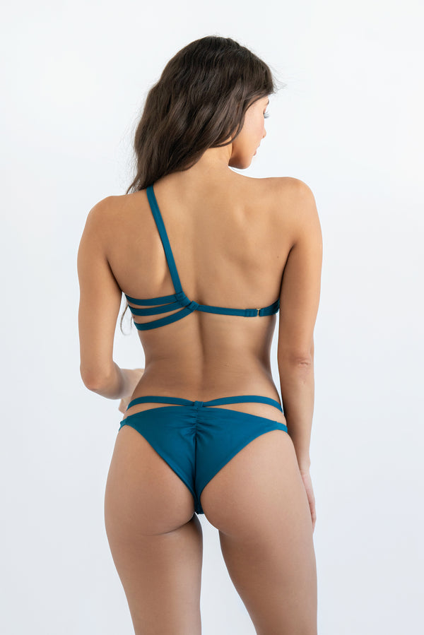 """Mila"" Asymmetrical Top - Dolce Aqua Swimwear"