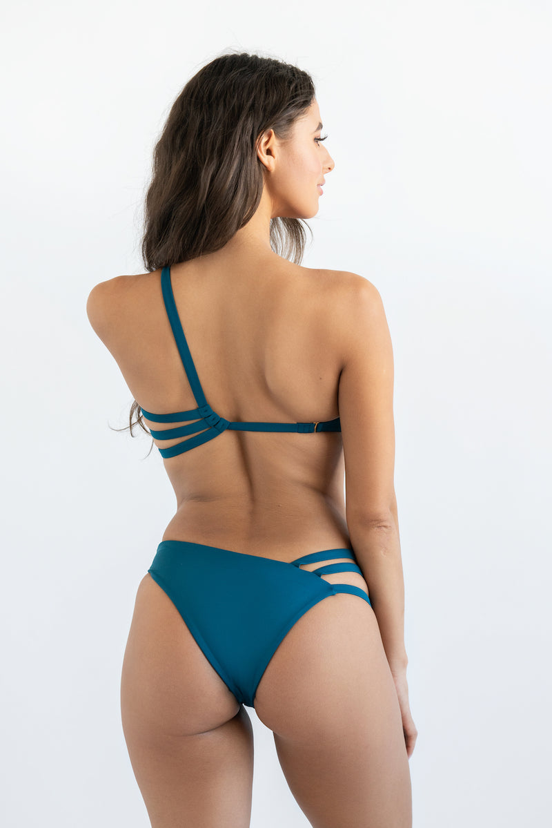 """Eva"" Asymmetrical One-Piece - Dolce Aqua Swimwear"